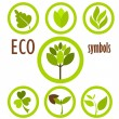 Eco symbols collection — Stock Vector