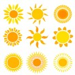 Suns collection — Stock Vector #26777999