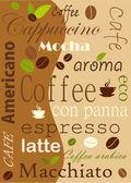 кофе фон — Cтоковый вектор