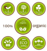 Eco organic labels — Stock Vector