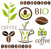 Coffee elements — Stock Vector