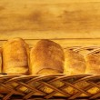 Stock Photo: Butter rolls in basket