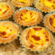 Small egg tarts pasteil de nata — Stock Photo