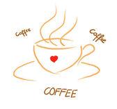 Coffee painted — Stock Photo