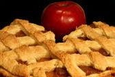 Apple pie over black — Stock Photo