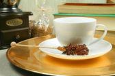 Koffie en boeken — Stockfoto