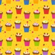Cupcake wallpaper — Stock Vector