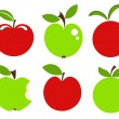 Apples icons — Stock Vector