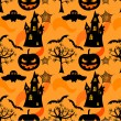 Stock vektor: Halloween seamless