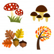 Autumn elements — Stock Vector
