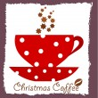 Christmas coffee — Stock Vector