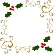 Holly Christmas frame — Stock Vector