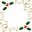 Holly Christmas frame — Stock Vector #27295493