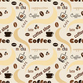 Coffee pattern — Stock Vector