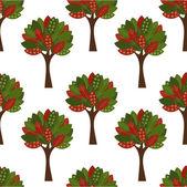 Trees seamless pattern — ストックベクタ