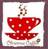 Christmas coffee — Stock Vector