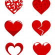 Hearts collection — Stock Vector