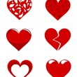 Hearts collection — Image vectorielle