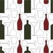 Stock Vector: Wine pattern