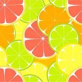 Citrus seamless — Stock Vector
