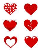 Hjärtan samling — Stockvektor