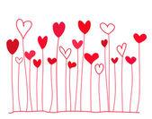 Fundo de corações — Vetorial Stock