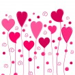 Lovely hearts — Stock Vector