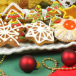 Gingerbread Christmas cookies — Stock Photo