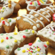 Gingerbread colorful cookies — Stock Photo