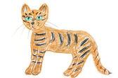 Tiger drawing — Stock Photo