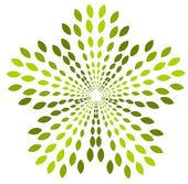 Green abstract emblem — Stock Vector