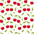 Cherry seamless — Stock Vector