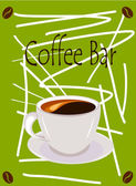 Coffee bar — Stock Vector