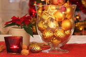 Christmas glass balls — Stock Photo