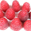 Raspberries in group — Stock Photo