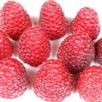Raspberries in group — Stock Photo