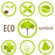 Eco symbols — Stock Vector