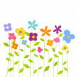 Stock Vector: Colorful spring flowers