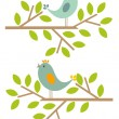 Spring birds — Stock Vector