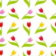 Tulips seamless pattern — Stock Vector