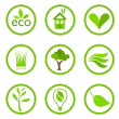 Ecology symbols — Stock Vector