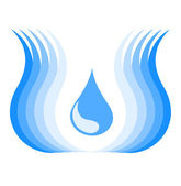 Water symbol — Stock Vector