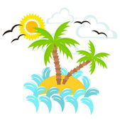 Summer island — Stock Vector