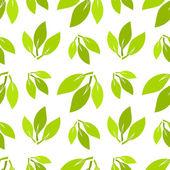 Folhas verdes sem emenda — Vetorial Stock