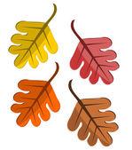Padajícím listí — Stock vektor
