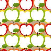 Apples seamless — Stock Vector