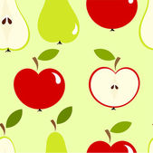 Apples and pears — Stock Vector