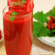 Strawberry coctails — Stock Photo
