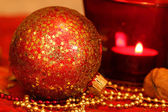 Christmas macro of glass ball — Stock Photo