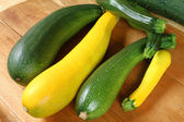 Zucchini green and yellow kinds — Stock Photo